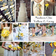 yellow and gray wedding!