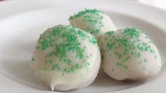Bailey's Chocolate Truffles, Irish Cream  alcoholic truffles, green St. Patrick's Day fudge candy