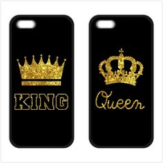 King Queen Couple Cover Case for iPhone 4 4S 5 5S 5C SE 6 6S 7 Plus Samsung Galaxy S3 S4 S5 Mini S6 S7 S8 Edge Plus A3 A5 A7 #Affiliate
