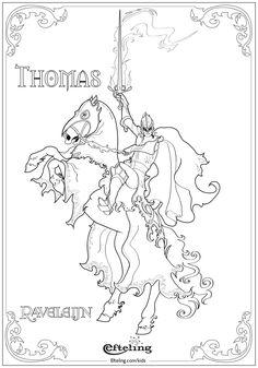 Thomas van Raveleijn. Efteling kleurplaat.