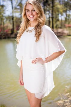 Angel of Love White Flutter Front Dress100% PolyesterHand Wash ColdNo BleachHang to DryImported83438