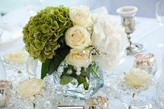 Hochzeit Tischdeko grün weiß