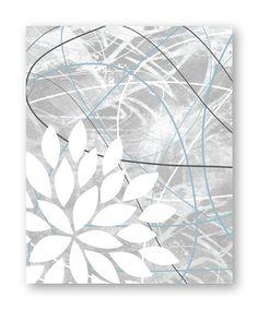 Floral Bursts Botanicals Dahlia Art Print Set by 7WondersDesign