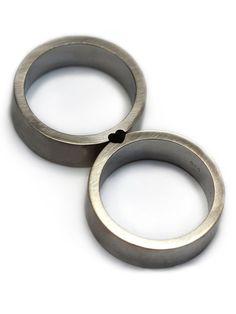 Ehering gesetzt Herz Ring liebe Ring Sterling von CADIjewelry