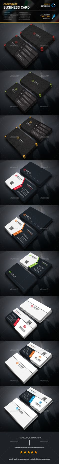 Corporate Business Card Bundle Templates PSD. Download here: http://graphicriver.net/item/corporate-business-card-bundle/16163930?ref=ksioks