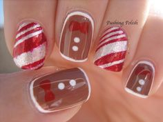 Candy Canes and Gingerbread Nails