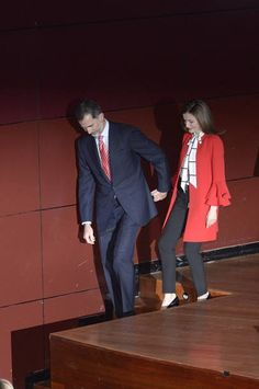 King Felipe VI of Spain and Queen Letizia of Spain deliver acreditations to the new Spain Brand Honorary Ambassadors at the Reina Sofia Museum on...