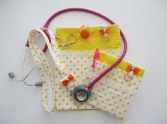 Set of 3 Nurse stethoscope pouch  Pocket organizer  by ippoippo, $39.99