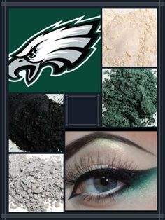 Eagles Football team spirit with Younique Mineral Pigments! Eagles Football Team, Go Eagles, Fly Eagles Fly, Eagles Game, Football Season, Football Memes, Younique Eye Pigments, 3d Fiber Lashes, Pigment Powder