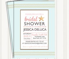 Beach Themed Invitations by GingerSnapsOriginal on Etsy