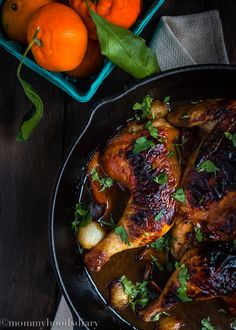 Naturally Sweet Holiday Meal: Honey Mandarin Roasted Chicken via @mommyhoodsdiary. This easy and inexpensive dish is flavored with mandarin orange, Don Victor Orange Blossom Gourmet Honey and white pearl onions for irresistible  flavor. Ideal for intimate gatherings or easy meal without sacrificing on flavor. Serve with potato onion gratin. Honey For The Holidays AD