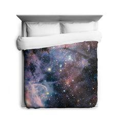 Carina Nebula Galaxy Bedding Duvet Cover Duvets & Down Comforters, New Full Duvet Cover, Bed Duvet Covers, Duvet Bedding, Bedding Sets, Teal Bedding, Galaxy Bedding, Galaxy Bedroom, Zen, Star Formation