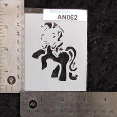 Pony Stencil 3 x 3-1/2 7 mil  AN062 by MonsterWurkz on Etsy