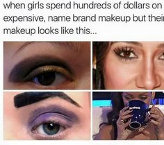 Lol looks familiar Makeup Humor, Makeup Quotes, Funny Makeup, Funny As Hell, The Funny, Funny Shit, Funny Stuff, Funny Quotes, Funny Memes
