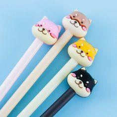 Happy Shiba Inu Pen Japanese Pen, Pen Shop, Cute School Supplies, Kawaii Stationery, Kawaii Shop, Amazing Adventures, Shiba Inu, Sticky Notes, Gifts For Girls