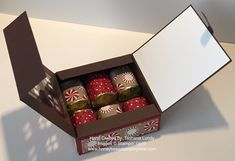 Hello Hivers,   Here is another of the Hershey's Nugget boxes. I love the look of this one. The darkness of the Early Espresso card sto...
