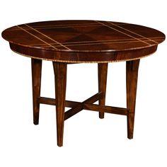 Jonathan Charles Craftsman's Mahogany Round Table