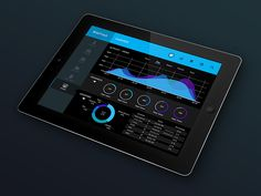 WebTrack Prototype App Design - Tablet
