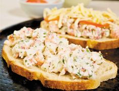 Recipes for lobster salad, lobster melts, and lobster gazpacho - The Boston Glob. - Sea here - Sandwich Lobster Recipes, Fish Recipes, Seafood Recipes, Dinner Recipes, Cooking Recipes, Shrimp And Lobster, Lobster Salad, Fish And Seafood, Salads