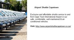 Airport Shuttle Online Booking, Confirmation and Payment Airport Shuttle, Cape Town