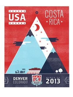 """US Mens Soccer Team  - great poster from and unforgettable game - aka """"the blizzard game"""""""