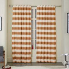 Ikat Stripe Printed Curtain - Sweet Potato | west elm