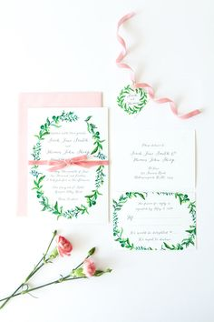 Printable Wedding Invitation  DIY  Watercolour by LadyBPaperie, $75.00