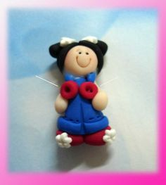 Hey, I found this really awesome Etsy listing at https://www.etsy.com/listing/97971573/patriotic-girl-polymer-clay-charm-bead