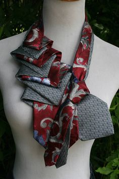 At checkout enter CODE5OFF to save when you buy 2 or more of these Necktie Necklaces ~ Order soon to SAVE! NOT YOUR HUSBANDS NECKTIES by RecycledNeckties ~ HAND CRAFTED UNIQUE WOMENS FASHION ACCESSORIES ~ UP-CYCLED MENS NECKTIES TO WOMENS NECKTIE NECKLACE Created from up-cycled