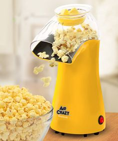 Take a look at this Yellow Air Crazy Popcorn Popper by West Bend on today! Cool Kitchen Gadgets, Cool Kitchens, Kitchen Tools, Kitchen Ideas, Kitchen Appliances, Hot Air Popcorn Popper, Digital Pressure Cooker, Susan Recipe, Sunflower Kitchen