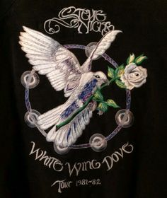 a lovely Stevie ~ ☆♥❤♥☆ ~ memento ~ the details of an embroidered tour jacket from her 1981 'White Wing Dove' tour ~ https://youtu.be/dWVE7XRNRYU