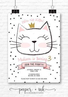We're Not Kitten Birthday Invitation