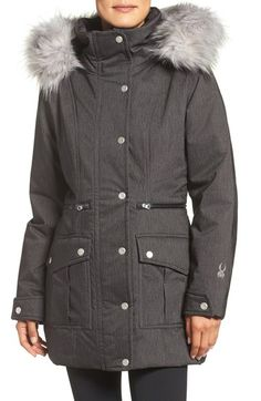 Spyder Arctyc Faux Fur Trim Jacket available at #Nordstrom