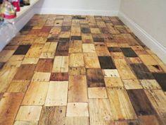 DIY: Pallet Wood Floor