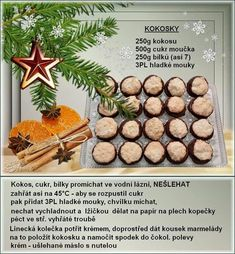 Christmas Sweets, Christmas Baking, Christmas Cookies, Czech Recipes, Sweet Recipes, Cooking Tips, Healthy Life, Food And Drink, Crafts