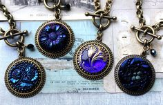 Pick one!  BLUE Art Glass Necklace by veryDonna, $78. Buy now with coupon PINIT10.