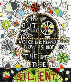 """Speak Out"" Flair Robinson Mosaic by Flair Robinson Studio, via Flickr"