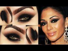 Makeup Tutorial Nicole Scherzinger - Maquiagem Olho Preto Esfumado Mulhe...