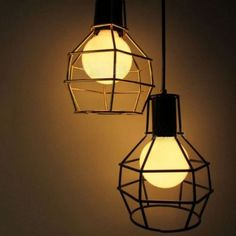 Vintage Hanglamp Zwart Cage Design - Slaapkamer Hanglampen