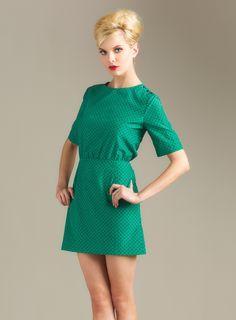 Short Sleeved Dot Dress
