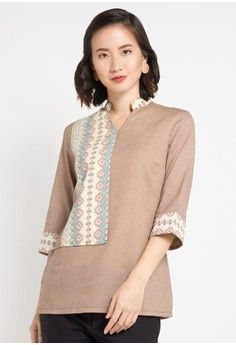 Hasil gambar untuk blouse batik 2018