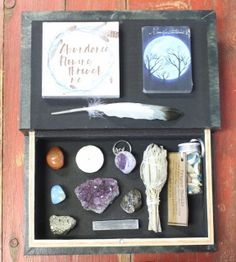 """This is a specially curated box - one of a kind - Magic in a box Includes  - A deer spirit themed box with magnetic closure 10.5"""" x 6.5"""" x 1.75"""" - the…"""