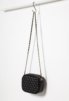 Quilted Faux Leather Crossbody | Forever 21 - 2000167382
