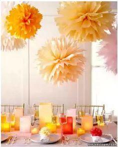 How to make tissue paper flower balls.
