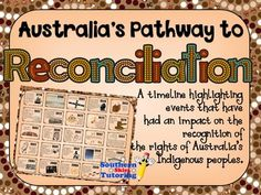 Australian Aboriginal Reconciliation Timeline - Pathway to Aboriginal Education, Indigenous Education, Classroom Resources, Teaching Resources, Aboriginal Dreamtime, Australian Curriculum, Teacher Organization, Classroom Displays, Books To Buy