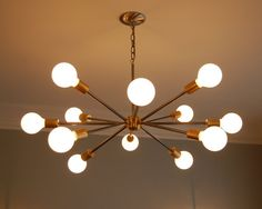 Mid-Century Sputnik inspired chandelier. by SouthernLightsTN