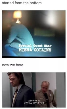 Started from the bottom now we here. Hahaha. This is my favorite Misha Collins post. #Supernatural