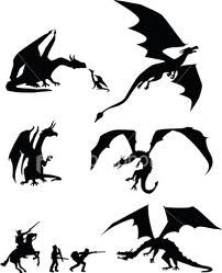 dragon silhouette - Google Search