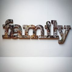 Family Sign Wall Decor in RealTree Camo by AlbonsBoutique on Etsy