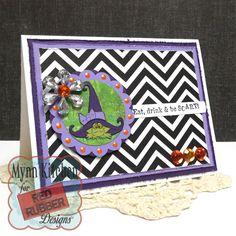 Red Rubber Designs | Be Scary, Fruit Punch QwikPax | Mynn Kitchen | Handmade Halloween Card